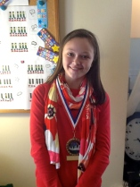 Olivia and medals
